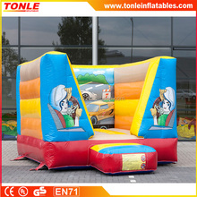 commercial small INFLATABLE MOONWALK WITH CAR THEME