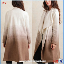 High quality alibaba express good looking beige thick parka jacket winter wool coat woman 2015