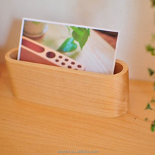 Custom wooden business card holder creative fashion notes box card case