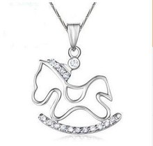 cute lovely animal shaped 925 sterling silver 2015 new design horse pendant