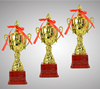 luxury metal awards trophy for commander,3d religious trophy,gold & silver two tone jesus religious awards metal trophy