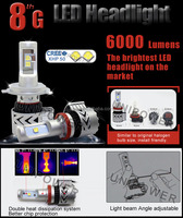 Patent design ! 360degree DC12-24V 6000lm H4 H13 9004 led auto headlight, H7 H8 H9 H11 H16 5202 9005 9006 auto led headlight