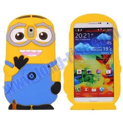 Whoelsale Cute 3D Minions Silicone Case for Samsung Galaxy Note 3