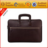 Genuine leather laptop tot bag with outside pocket for men Can customize size