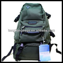 middle-large wholesale nylon pvc camping backpack and hiking bags and mountaineering bags or nylon pu bag