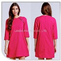 Valentine Fushia Color Women Kaftan Short Dress