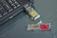 1gb/2gb crystal usb, grade A chip usb flash drive pen, customized logo usb flash drive memory