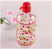 luxury plastic pump spray empty lotion pump bottles cosmetic jar