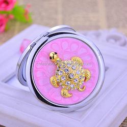 Metal Compact Mirror Handbag Cosmetic Mirror Purse Size Makeup Mirrors
