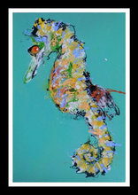 Newest abstract seahorse oil painting,modern oil painting in canvas