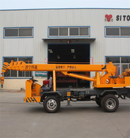4 Ton Mini Size Truck Hydraulic Crane with Fly Jib and Telescope Booms