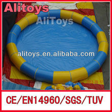 2015 Ali 0.6mm PVC large inflatable swimming pool with CE