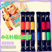 new 2in1 nail art pen for best selling which can draw on nail