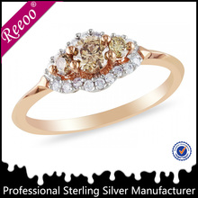 high quality luxery fashion silver diamond rings price in india