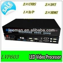 Leeman LVP603 LVP605 VD 3-Composite/ SDI/ HDMI/ DVI/ S-Videa/YPbPr/vga port LVP605S Led Display HD LED VIDEO PROCESSOR