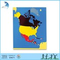 Montessori educativos materiales mapa rompecabezas de américa del norte