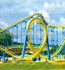 China most thrilling Single-loop Double-spiral roller coaster