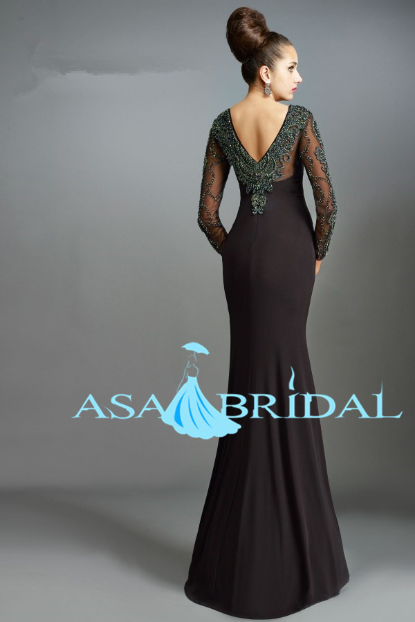 MO115 Maxi Dress Long And Beaded Chinese Wedding Bohemian Style Sexy Mother Of The Bride Dresses