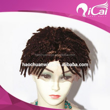 High quality indian remy natural curly kinky curly jerry curl full lace wigs