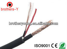 Satellite TV coaxial cable 0.81MM BARE COPPER/ccs with coaxial cable with power cable18awg