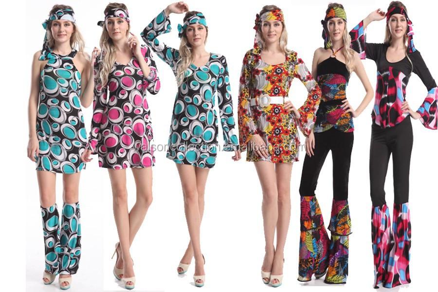 70er 80er jahre kleid kostum flowerpower damen hippie. Black Bedroom Furniture Sets. Home Design Ideas