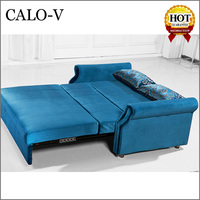 new model Calo fabrics furniture sofabed pictures price of folding sofa cum bed designs