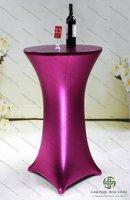 round metallic-spandex bar table covers MSct-ZBc11