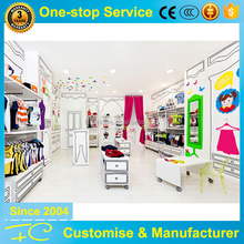Adorable painting MDF kid city clothing store furniture and layout concept