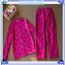 Custom Mujeres algodón Pijamas de los hombres de la franela pijamas Intimates Ropa de dormir fabricante China de fábrica