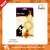 Bamboo toys with feather pet toys imported from china