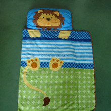 Printed with lions 3 in 1 portable and foldable mini kids nap mat