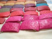 Genuine Ostrich Leather Coin Purses