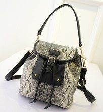 2011 fashion handbag with snake skin