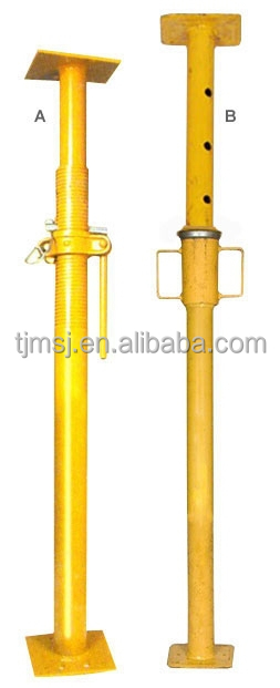Adjustable Telescopic Prop : Telescopic post adjustable shoring prop scaffolding steel