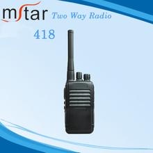 418 pequeño Walkie-Talkie de Radio de mano