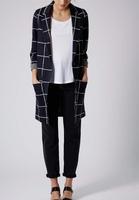 2015 hot sales grid coat long coat longline blazer coat in check,clothing suppliers for unique