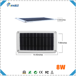 hottest 5V USB 8W solar panel for bags hiking with inner voltage controller for charging mobile phones directly