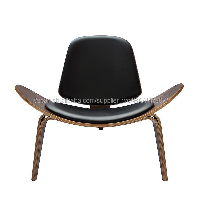 Más de moda de estilo italiano, con tres patas Silla de salón para la sala de muebles danés tantra silla