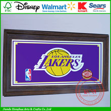 NBA Los angeles lakers framed logo large safety mirrors
