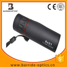 (BM-1010) 8x21 Mini Handheld golf course monocular ,waterproof adiustable Binoculars Telescope outdoor,thermal binoculars