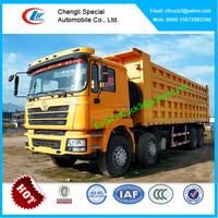Shacman truck load of sand,tripper truck