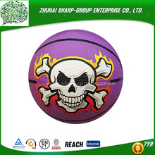 OEM Heat transfer printing durable rubber material basketball
