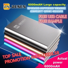 Fasting charging universal 6600mah power bank with led light for samsung galaxy note 2 n7100