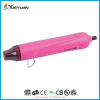 2015 CE/ROHS/CB/BS/EMC/ETL/CETL/UL mini handicrafts pink blue black green heat embossing tool new design heat gun uses