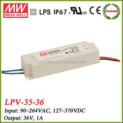 Meanwell led waterproof power supply LPV-35-36