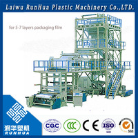6m wide in 200 microns plastic film for greenhouse plastic film roll making machine