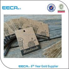 Brown kraft paper recycle hang tag,hang tag wholesale