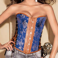 New style High reflective leather catsuit corset top for women