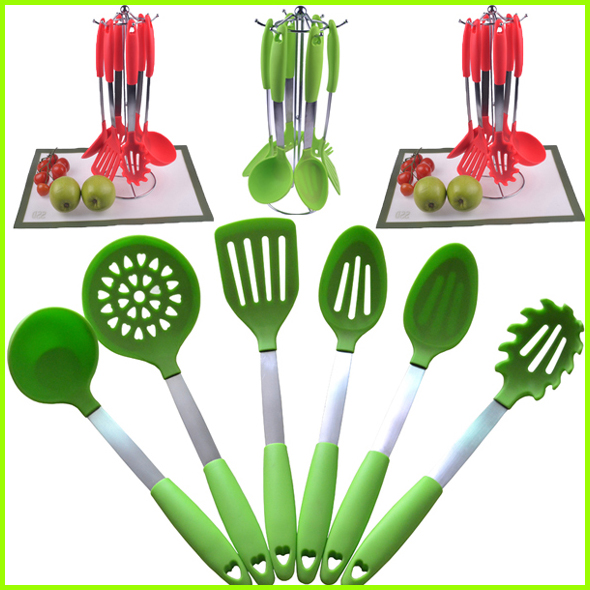 China Distributors Modern Kitchen Design Set Of 6 Silicone Kitchen Utensils Buy Silicone