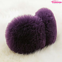 Fashion Style Purple Australia Sheepskin Earmuffs
